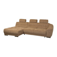 Modern sofa beds sleeper sofas houzz for Bartlett caramel left corner chaise sectional