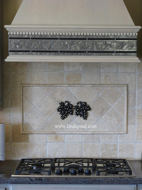 vienna grape decorative backsplash accent tile onlay accent trim and