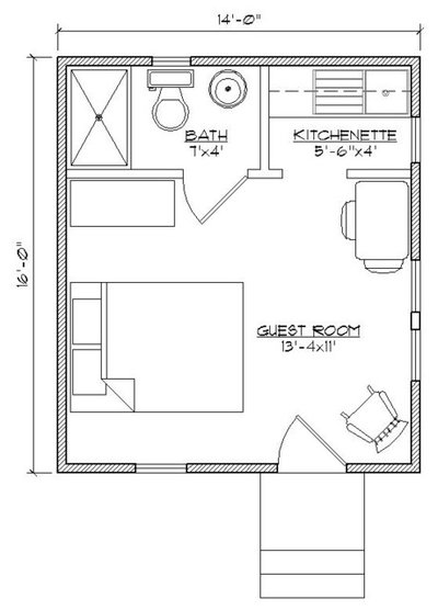 Traditional Floor Plan by Historic Shed