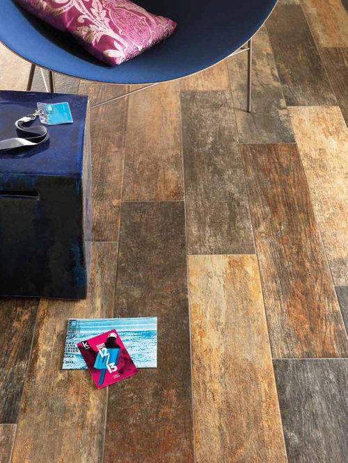 Rustic tile flooring