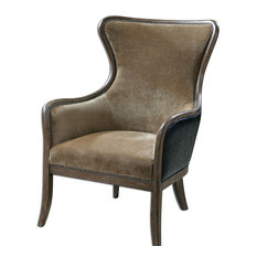 Uttermost Uttermost Snowden Tan Wing Chair Solid Wood