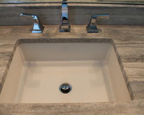 Silver Travertine Countertop Home Design Ideas, Pictures, Remodel and Decor