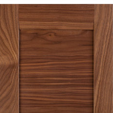 Transitional-Contemporary Combination Frame Cabinet Door, Select Walnut - Combination frame ...