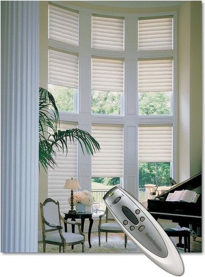 Small luxuries motorized window coverings offer benefits Motorized window shades cost