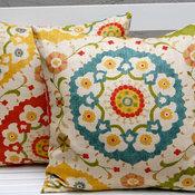 Richloom Cornwall Garden Throw Pillow Cushion Covers by Festive Home Decor