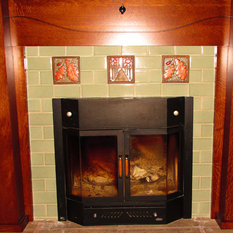 Craftsman fireplaces houzz for Craftsman gas fireplace
