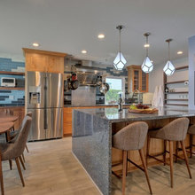 Room of the Day: Warm Wood, Icy Blues in an Alps-Inspired Kitchen