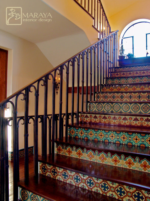 Italian tuscan spanish mediterranean french Ranch style staircase