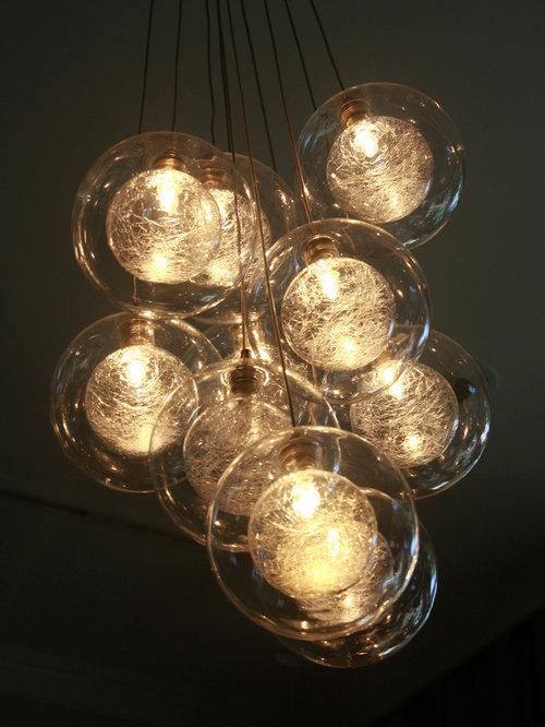 Kadur Custom Blown Glass Chandelier Modern Glass Lighting