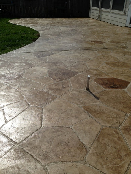 Stamped Concrete Flagstone Home Design Ideas Pictures
