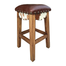Rancho Collection Canyon Western Bar Stool Leather 24