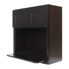 Everyday Cabinets - Dark Espresso Shaker Microwave Wall Cabinet, 30 ...