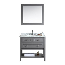 36 Bathroom Vanity And Mirror Slate Gray The 36 Hampton Bathroom