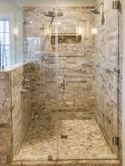 Rustic Bath Design Ideas, Pictures, Remodel & Decor with Brown Cabinets