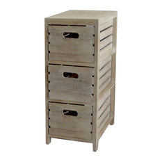 Washed Wood Crates Cabinet  Drawer Chest Storage Cabinets
