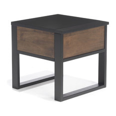 Tables de chevet et tables de nuit industrielles - Table chevet industriel ...