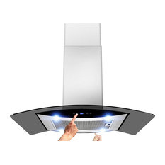 AKDY - Euro Stainless Steel Island-Mount Range Hood, Duct/Pipe - An upgraded version of 688ICS14 ...