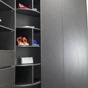 Fashionista's dream rotating shoe rack