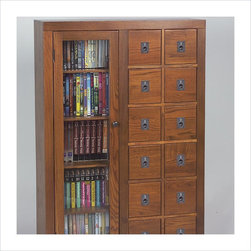 - GL06051878 - This solid wood CD, DVD, Video media storage cabinet ...