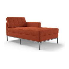 Orange chaise lounge chairs houzz for Burnt orange chaise lounge