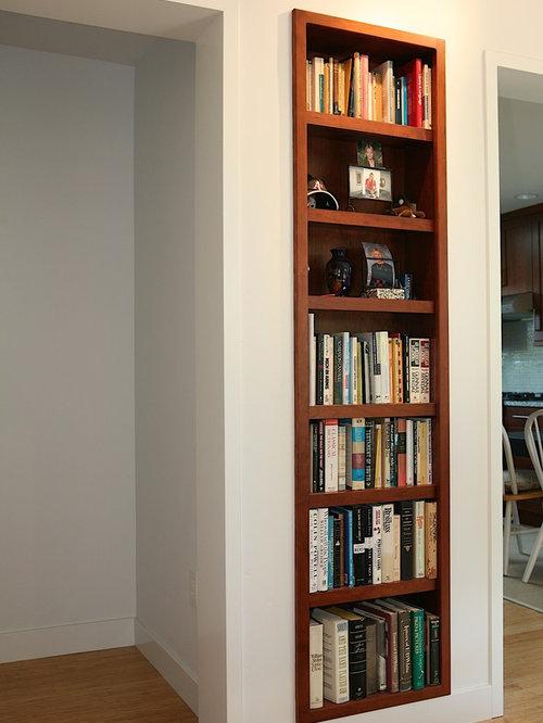 Recessed Bookshelf Home Design Ideas Pictures Remodel