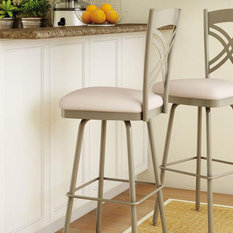 brushed nickel bar stools and counter stools houzz. Black Bedroom Furniture Sets. Home Design Ideas