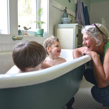 From Canning Porch to Beautiful Vintage Bath in Oregon