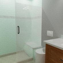Novato Modern Mission Guest Bath