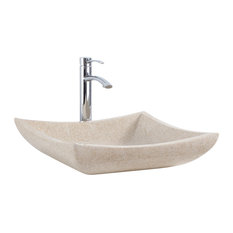 Vanity Bathroom Sink in Ivory Marble - This one-of-a-kind vessel sink ...