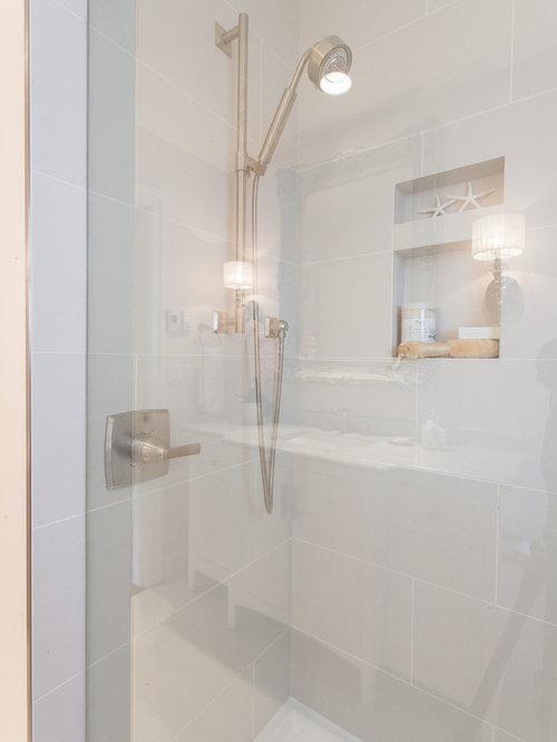 salles de bains et wc avec un carrelage gris et un mur. Black Bedroom Furniture Sets. Home Design Ideas
