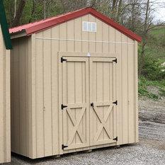 Craftsman sheds houzz for Craftsman style storage sheds