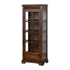 Sunny Designs - Savannah Curio Cabinet - With three adjustable shelves ...