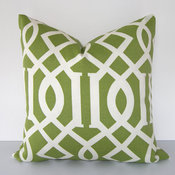 Decorative Pillow Cover Indoor/Outdoor, Trellis, Geometric By Loubella1