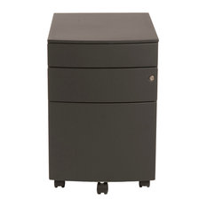 Eurostyle - Floyd PPF Filing Cabinet-Black - This convenient cabinet ...