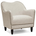Grace Tufted Club Chair Natural Armchairs And Accent