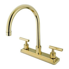 kingston brass manhattan double handle 8 kitchen faucet kitchen faucets avant garde faucet