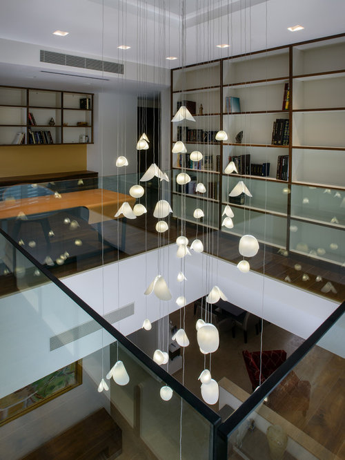 Modern foyer lights modern entry chandelier lighting for for Pendant lighting for high ceilings