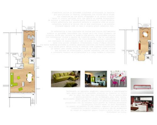 Progetto arredo soggiorno/cucina