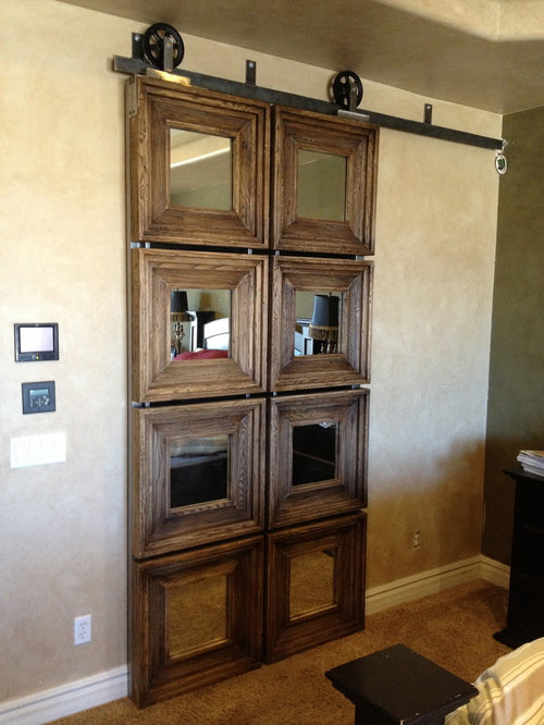 Barn Door Mirror Home Design Ideas, Pictures, Remodel and Decor