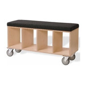 Bench Box with Casters - Upholstered Seat