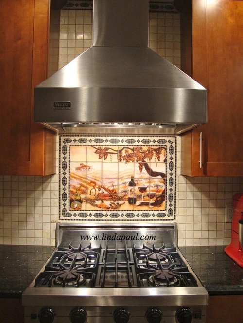 Kitchen Backsplash Murals Mosaic Medallions And Accent Tiles