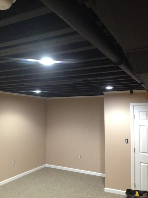 Spray Painting Popcorn Ceiling Home Design Ideas Pictures