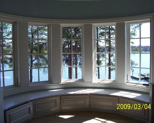 Round bay window home design ideas renovations photos for Discount bay windows