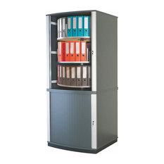 Empire office solutions moll lockfile carousel cabinet five tier