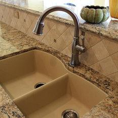 Fiberglass Farmhouse Sink : ... sink is a Blanco Diamond 1 ? Silgranite sink in Biscotti color with a