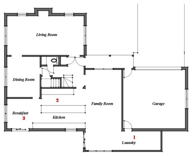 Renovation Ideas Playing With A Colonial S Floor Plan