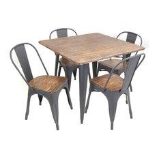 Ensemble salon de jardin industriel - Table de jardin industriel saint etienne ...