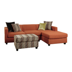 3 Sided Fireplace Sectional Sofas Houzz