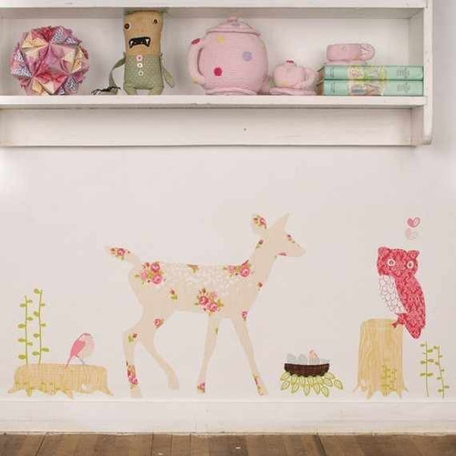 mae wall stickers up and away wallsticker i stof fra love mae