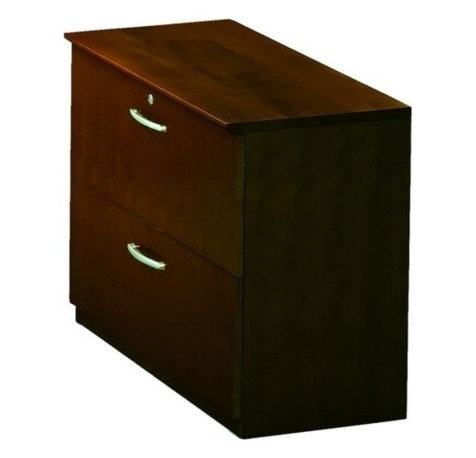 File - 36 Width x 19 Depth x 29.5 Height - 2 - Two-drawer lateral file ...